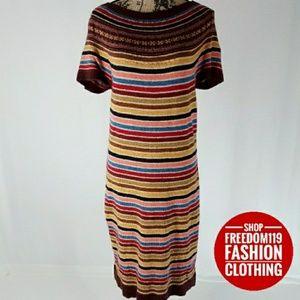 Tommy Hilfiger   Fair Isle Knit Sweater Dress (L)